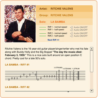 Ritchie Valens - La Bamba | Guitar Leads